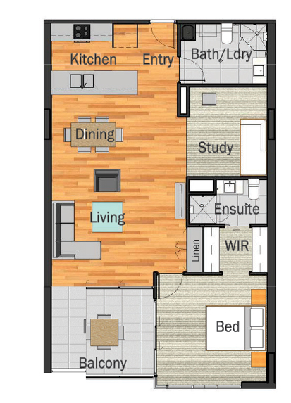 1-Bedroom-2-Bathrooms-1-Study